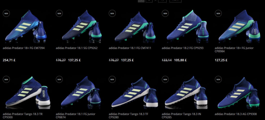 r-gol shop - category - adidas boots